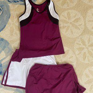 Balle De Match Athletic Tennis Tank and Skirt- S